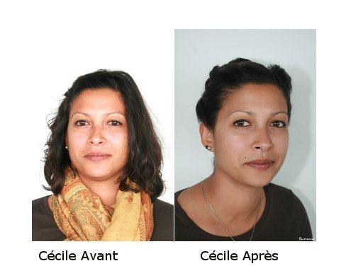 Avant / Après Cécile