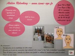 Atelier Relooking Icone-ego à Nice, jeudi 9-5-2013 à 19h15, comment mettre en valeur son visage