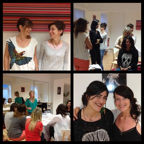 Atelier Relooking Nice : déterminer sa forme de visage pour faire des choix de bijoux, cols et coiffures adaptées.
