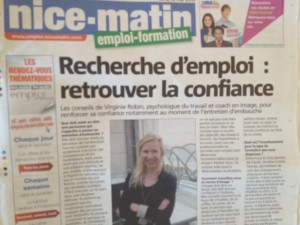 Virginie Robin, Coach en image, Psychologue du travail. Icone-egoArticle Nice Matin131-5-2013